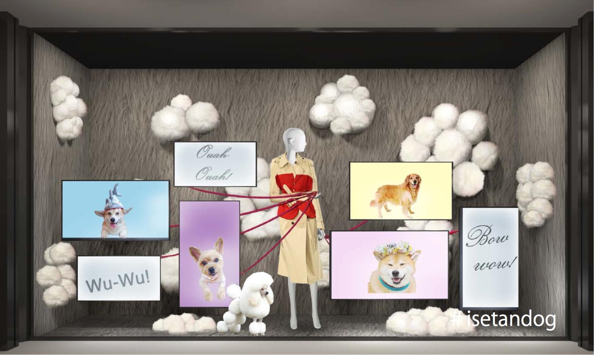 """戌年の2018年!伊勢丹新宿店のテーマは""""犬"""" PECOと伊勢丹新宿店によるコラボレーションイベントが開催決定"""