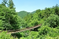 秋川渓谷の「石船橋(いしぶねばし)」