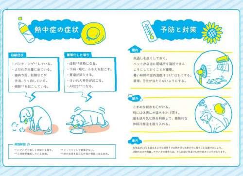 「イヌ・ネコの熱中症予防対策マニュアル」中面の一部