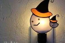 親子のハロウィンおばけ♪ ステンドグラス ランプ/G.R-mik