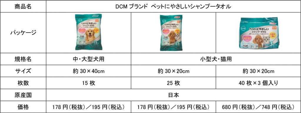 DCMブランド シャンプータオル商品概要