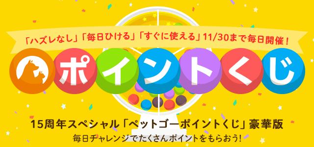 15周年記念 スペシャルペットゴーポイントくじ