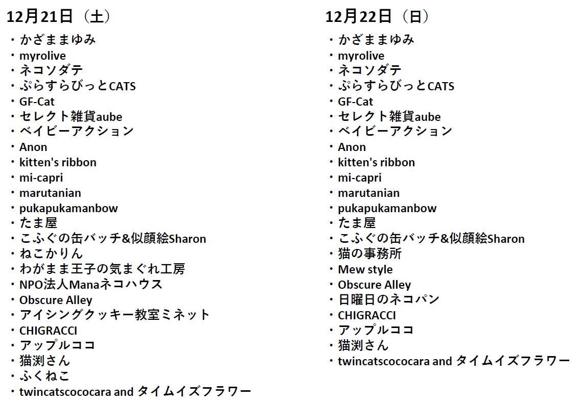 にゃんぱくマーケット出典リスト