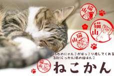 """スリスリ甘えたり、寝ころがって""""へそ天""""したり。押すたびにほっこり癒される落款(らっかん)風の猫はんこ「ねこかん」が登場。"""