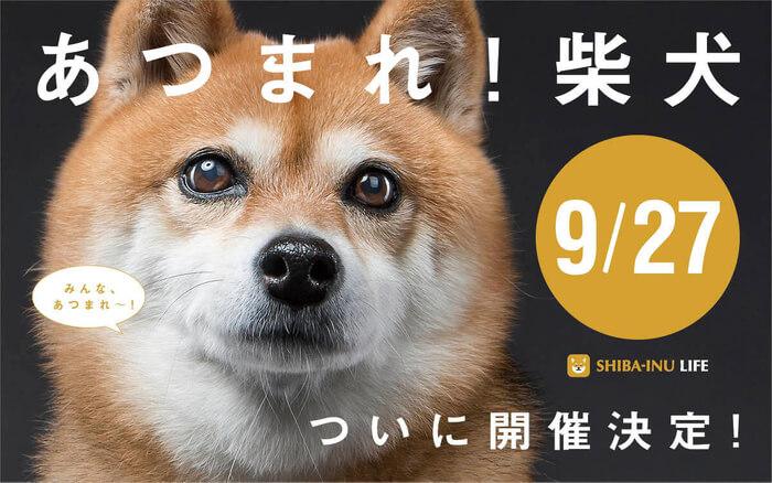 """ドッグフレンドリーイベント""""ワンOneday""""「あつまれ!柴犬」"""
