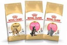 特定猫種用フード「ベンガル 成猫用」、「ブリティッシュ ショートヘアー 子猫用」、「メインクーン 子猫用」の3製品を新発売。