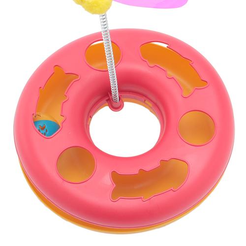 「キャットトイ ボールトラック」ボールをコロコロ転がしたりバネの玩具で遊べます。 猫の運動不足解消、ストレス発散などに!