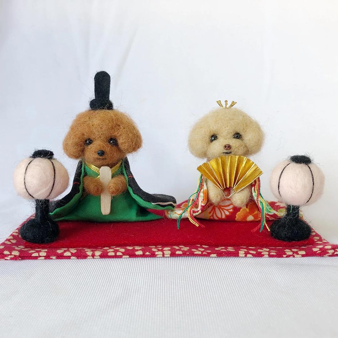 愛犬・愛猫の写真をもとに羊毛フェルトで作る 「うちの子雛人形」のオーダー受付開始! ~ペットと一緒に「新しいひな祭り」のスタイル~