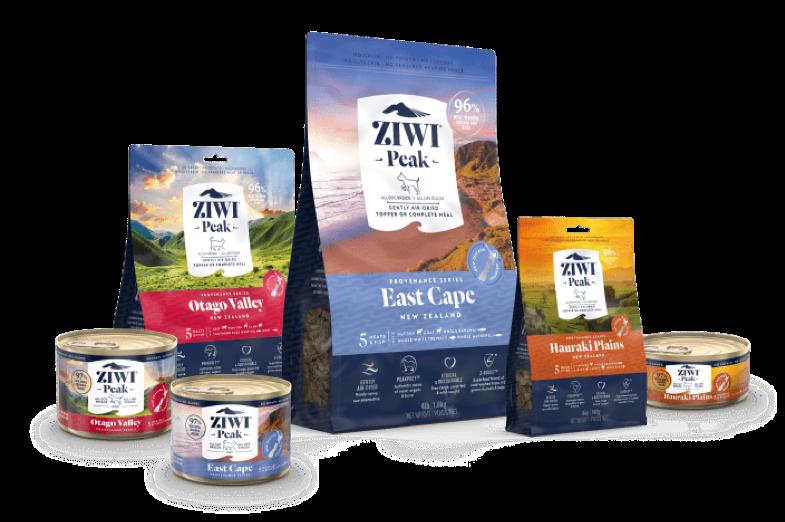 ニュージーランド発ペットフードブランド「ZIWI Peak(ジウィピーク)」より世界初※となる5種類の肉と魚を使用した「プロヴェナンスシリーズ」新発売