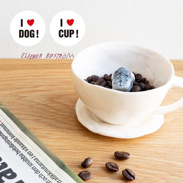 【新発売】犬好き&コーヒー好きにはたまらない!注目の人気作家「エレオノール・ボストロム」のドッグカップが新登場!