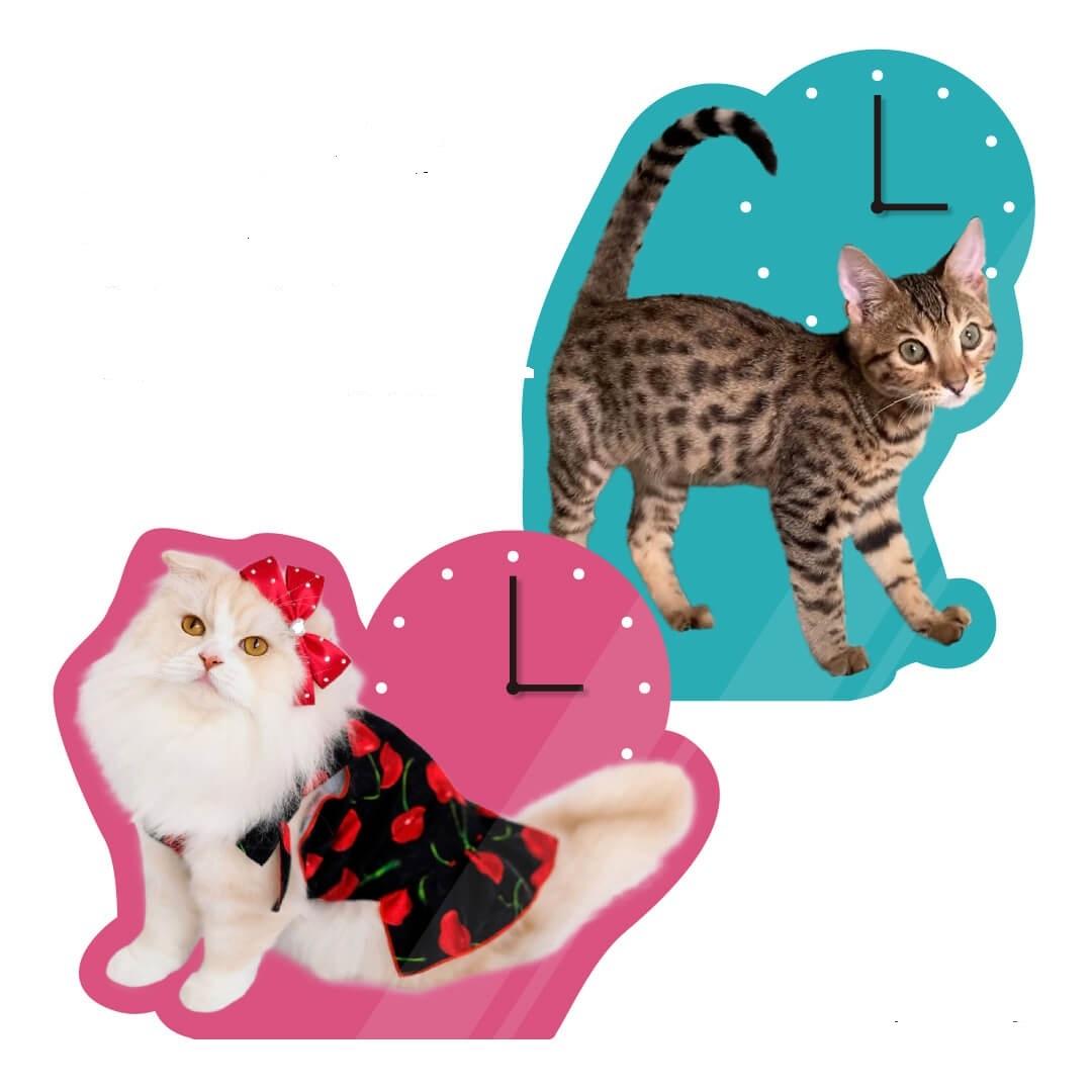 愛猫で作るオリジナルアクリル時計
