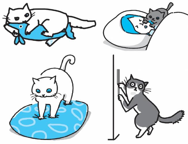 かわいい猫イラストが満載で、見るだけでも楽しい!