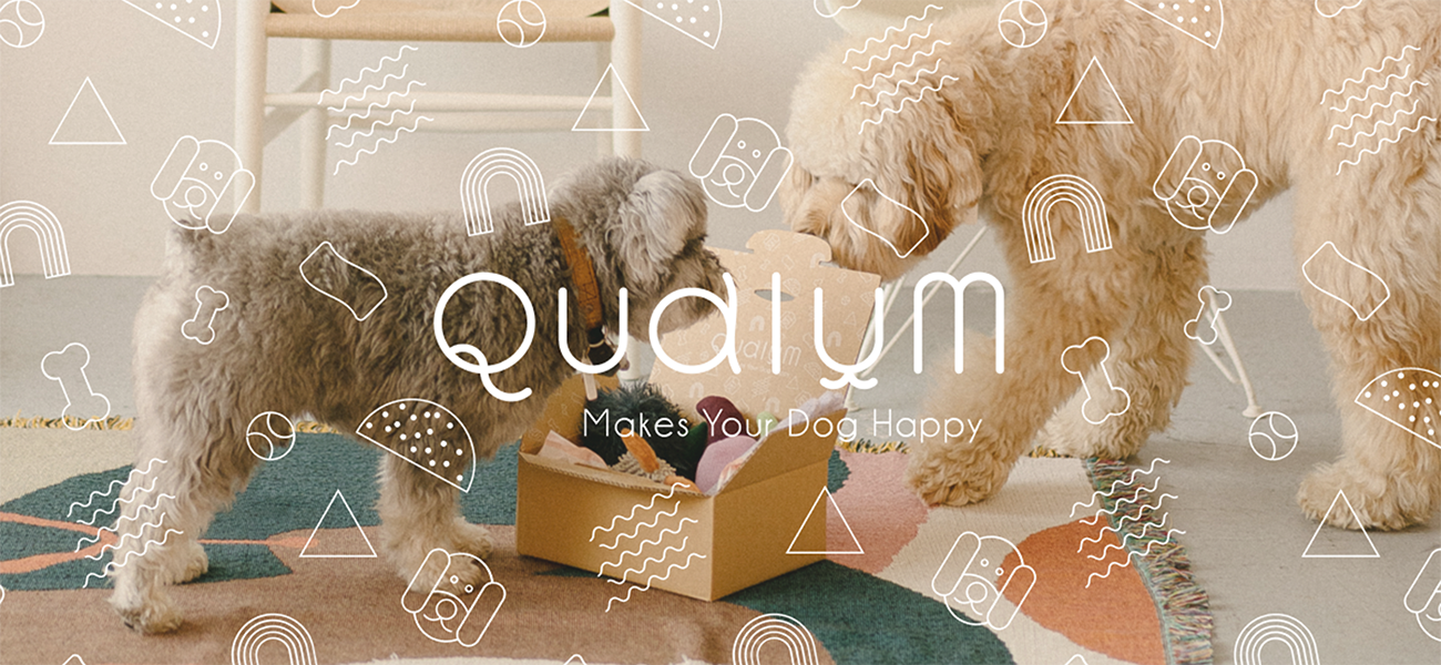 🐶💭 Hello New Babe❣️ 犬たちに毎月ギフトボックスをお届けする『Qualum(カルム)』がサービス開始!