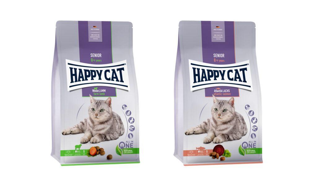 好みに合わせて選べるシニア猫用サーモン風味とラム風味、2種類のレシピ