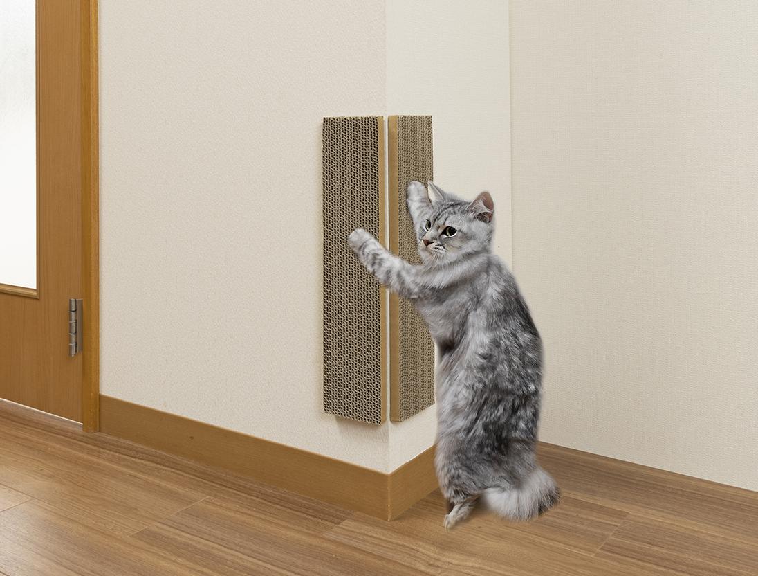 ステイホームで猫にもストレスが! 愛猫も人も快適に過ごせる室内環境づくりを 『吸着コーナーにも貼れる猫のつめとぎ 段ボール』 『おくだけ吸着猫のトイレ下敷きマット』 2021年9月1日新発売!